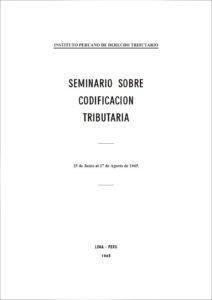 Libro Seminario sobre Codificación Tributaria (1965)